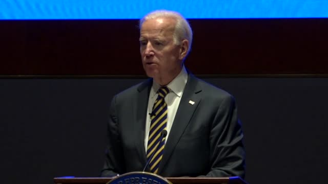 Former Vice President Joe Biden asks House Democrats at an annual issues conference if any of them doubt the objective of the Speaker Ryan was to...