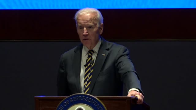 Former Vice President Joe Biden tells House Democrats at an annual issues conference that the Democratic Party must be the strongest clearest voice...