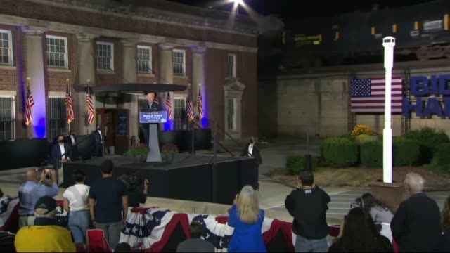 former vice president joe biden tells supporters at an outdoor car rally by johnstown amtrak train station that the before, the president of the... - tentacle sucker stock videos & royalty-free footage