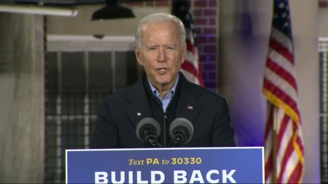 former vice president joe biden tells supporters at an outdoor car rally by johnstown amtrak train station that his mom always used to say to joe... - employment document stock videos & royalty-free footage