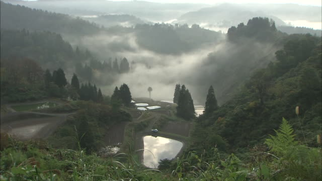 Former Village Of Yamakoshi In The Morning, Niigata, Japan