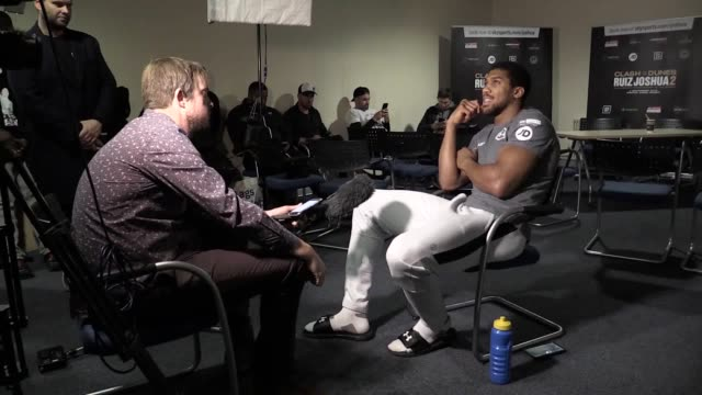 former world heavyweight champion anthony joshua discusses his relationship with trainer rob mccracken and what he learnt from his loss to andy ruiz... - saudi arabia stock videos & royalty-free footage
