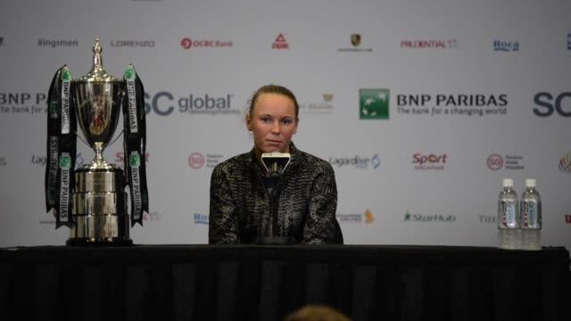 Former world number one Caroline Wozniacki ended her career long jinx against Venus Williams in spectacular style to lift the WTA Finals trophy for...