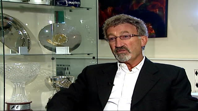 formula 1: brazilian grand prix: possible appeal could mean title for lewis hamilton; england: london: eddie jordan interview sot - grand prix motor racing stock videos & royalty-free footage