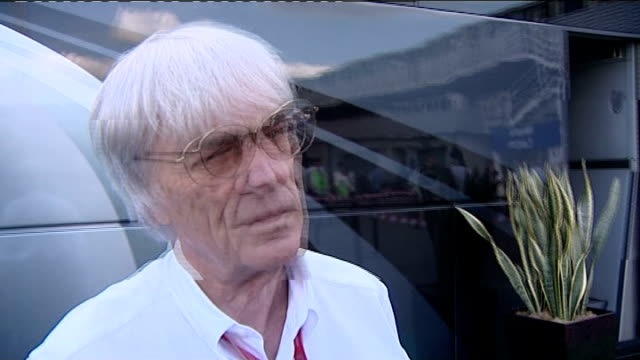 formula 1: future of the british grand prix: ecclestone interview; england: northamptonshire: silverstone: ext bernie ecclestone interview sot -... - bernie ecclestone stock videos & royalty-free footage