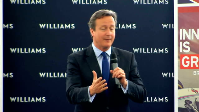 formula 1 london grand prix moves a step closer oxfordshire grove int david cameron mp chatting to officials at opening of new williams f1 facility... - newly industrialized country stock videos & royalty-free footage