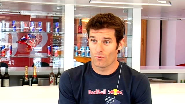 Formula 1 Mark Webber interview Webber interview SOT Speculates on whether there will be a F1 drivers championship next year / Hopes solution can be...