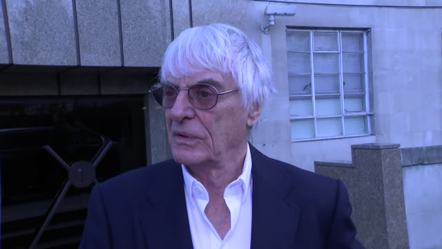 formula one: bernie ecclestone interview; motor racing: formula one: bernie ecclestone interview; england: london: ext bernie ecclestone interview sot - bernie ecclestone stock videos & royalty-free footage