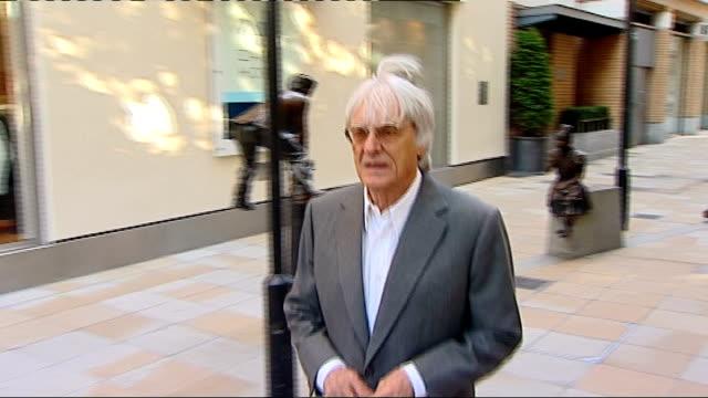 formula one: bernie ecclestone says bahrain grand prix will go ahead; england: london: ext bernie ecclestone along bernie ecclestone interview sot -... - bernie ecclestone stock videos & royalty-free footage