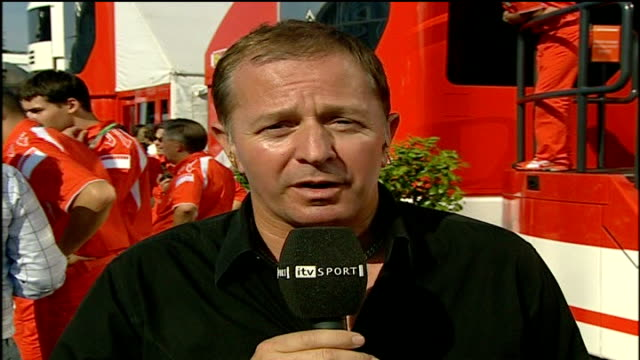 Formula One champion Michael Schumacher to retire Martin Brundle interview SOT He's a tough team mate to have so fit acrobatic / Strong in head both...