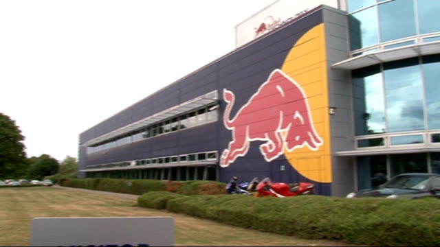 Formula One Sebastian Vettel in pole position for British Grand Prix Red Bull headquarters building Location unknown INT Christian Horner interview...
