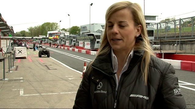 formula one susie wolff signed by williams as test driver location susie wolff interview sot - 試運転点の映像素材/bロール