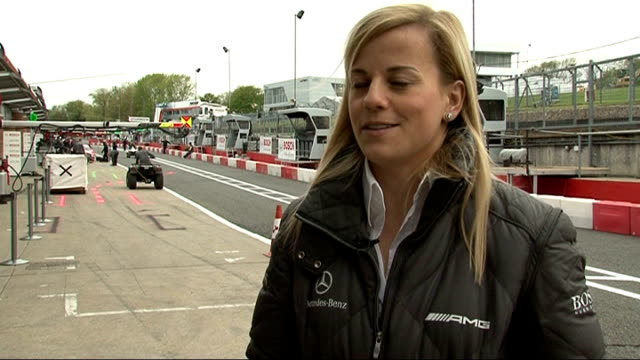 formula one susie wolff signed by williams as test driver location wolff interview sot - 試運転点の映像素材/bロール