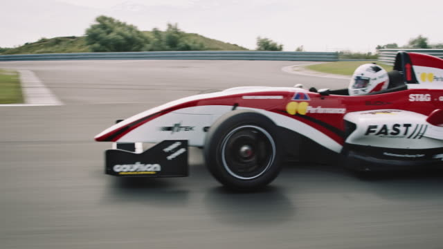 formular one racing car driving on a racetrack - netherlands stock videos & royalty-free footage