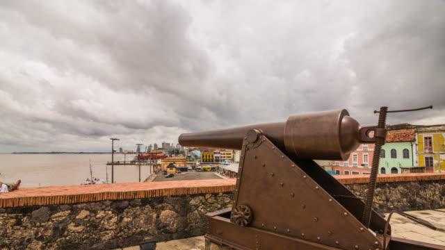 fort castle of belem - belém brazil stock videos and b-roll footage