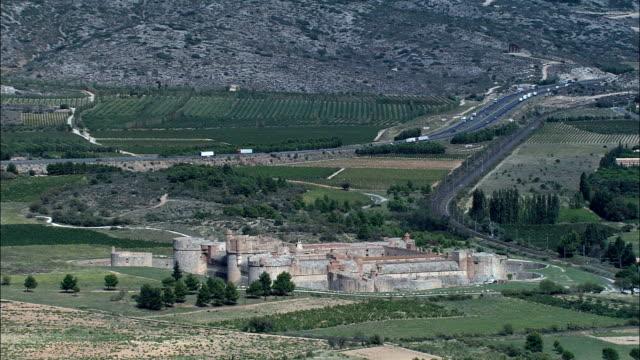 Fort De Salses  - Aerial View - Languedoc-Roussillon, Pyrénées-Orientales, Arrondissement de Perpignan, France