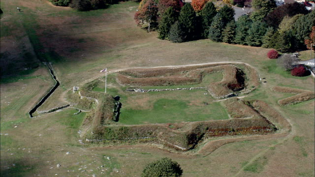 fort griswold  - aerial view - connecticut,  new london county,  united states - new london county connecticut stock videos & royalty-free footage