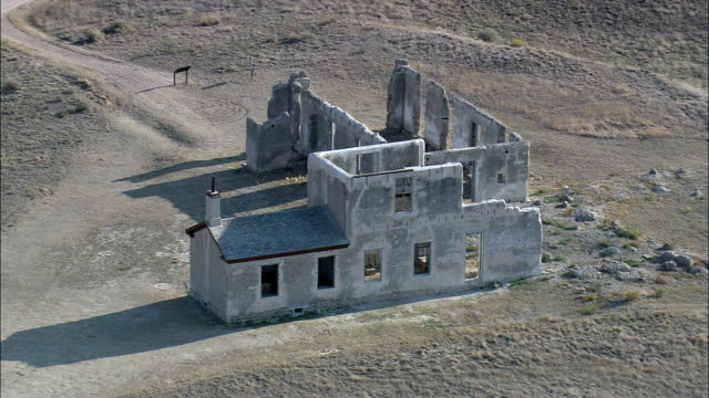 Fort Laramie  - Aerial View - Wyoming, Goshen County, United States