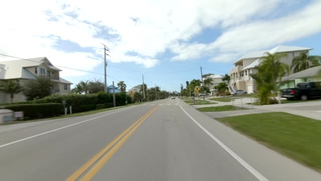 fort myers beach xxiii synced series front view driving process plate - fort myers beach stock videos & royalty-free footage