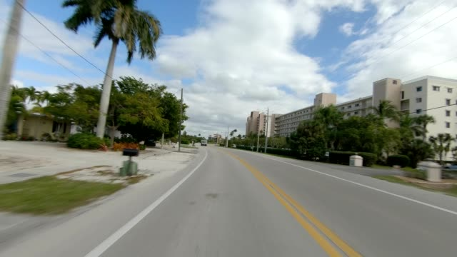 fort myers beach xxiii synced series rear view driving process plate - fort myers beach stock videos & royalty-free footage