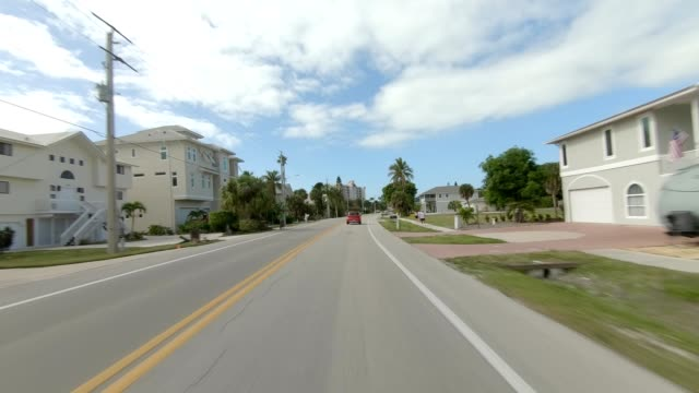 fort myers beach xxiv synced series front view driving process plate - fort myers beach stock videos & royalty-free footage