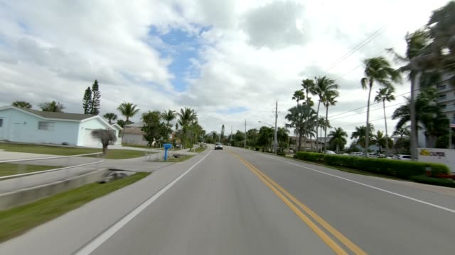 fort myers beach xxiv synced series rear view driving process plate - fort myers beach stock videos & royalty-free footage