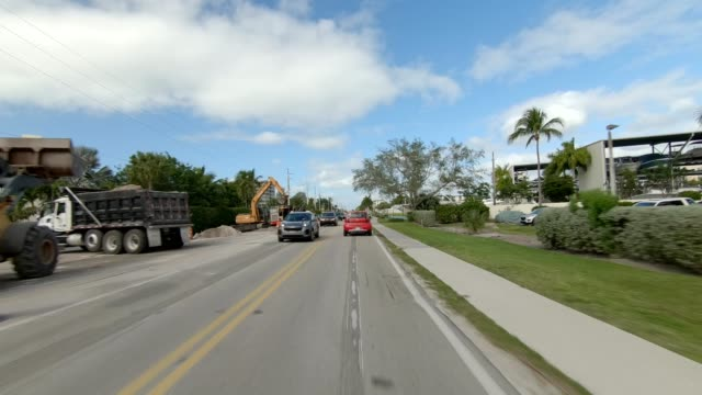 fort myers beach xxv synced series front view driving process plate - fort myers beach stock videos & royalty-free footage