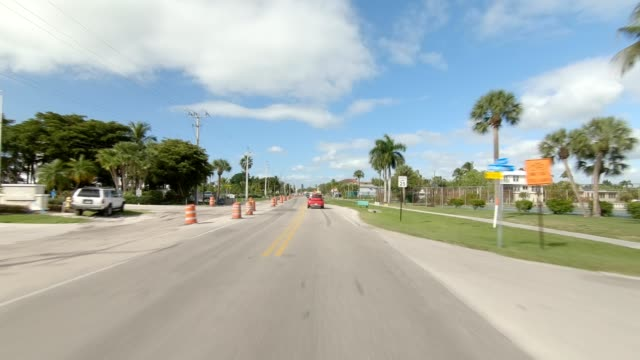 fort myers beach xxvi synced series front view driving process plate - fort myers beach stock videos & royalty-free footage