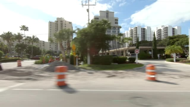 fort myers beach xxvi synced series left view driving process plate - fort myers beach stock videos & royalty-free footage