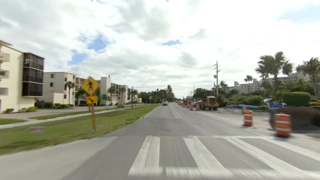 fort myers beach xxvi synced series rear view driving process plate - fort myers beach stock videos & royalty-free footage