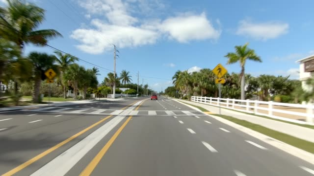 fort myers beach xxvii synced series front view driving process plate - fort myers beach stock videos & royalty-free footage