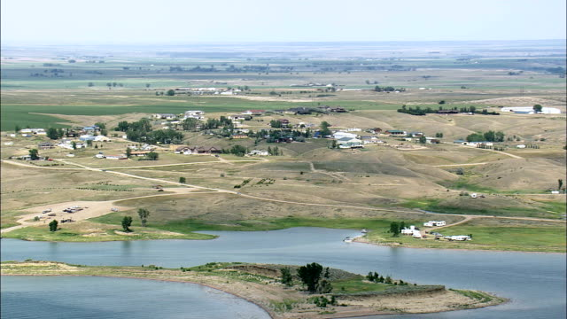 Fort Peck Creek Recreation Area  - Aerial View - Montana, Valley County, United States