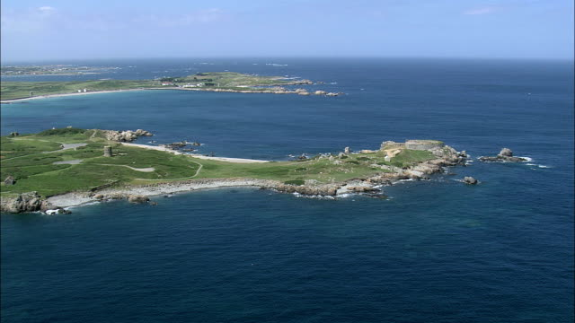 Fort Pembroke  - Aerial View - helicopter filming,  aerial video,  cineflex,  establishing shot,  Guernsey