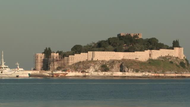 fort to harbor, kusadasi, turkey - aydın province stock videos and b-roll footage