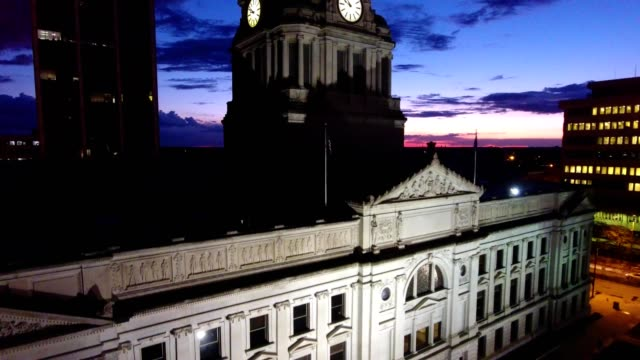 fort wayne court house at dawn - courthouse stock videos & royalty-free footage