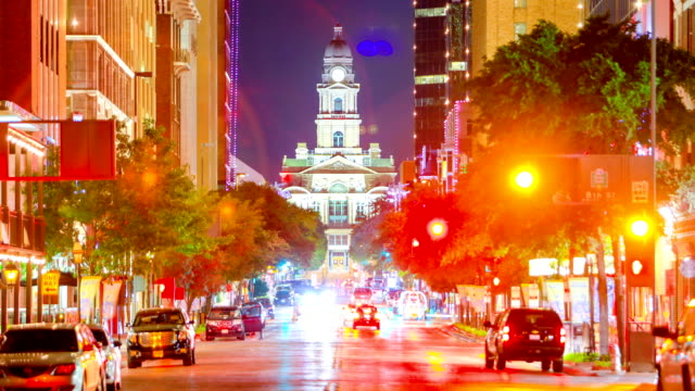 stockvideo's en b-roll-footage met fort worth, tx skyline - town hall