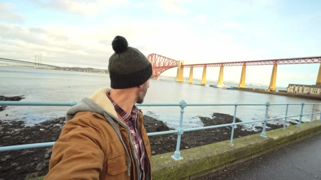 forth rail bridge in queensferry, scotland - 19th century style stock videos & royalty-free footage