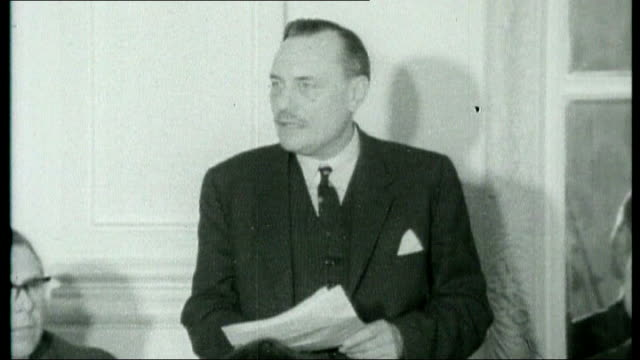 fortieth anniversary of enoch powell's 'rivers of blood speech tx handsworth enoch powell speech sot it is like watching a nation busily engaged in... - handsworth stock videos & royalty-free footage