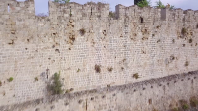fortifications of rhodes - knights templar stock videos & royalty-free footage