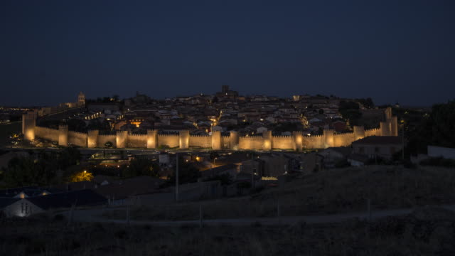 a fortified city (unesco world heritage site) day to night - stone wall stock videos & royalty-free footage