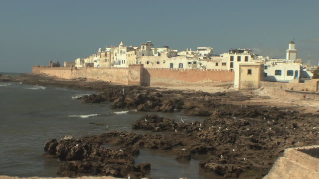 ws fortified port town, essaouira, morocco - north africa stock videos & royalty-free footage