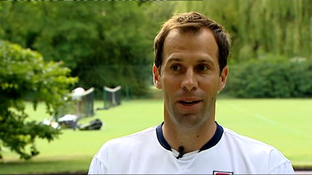 fortis bank tournament: preparations for wimbledon; rusedski interview sot - not too soon for robson to be exposes to main ladies draw / she did win... - serena williams tennis player stock videos & royalty-free footage