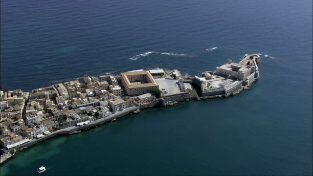 Fortress - Aerial View - Sicily, Syracuse, Siracusa, Italy