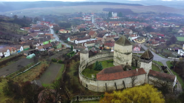 fortress calnic in kelnek - siebenbürgen stock-videos und b-roll-filmmaterial