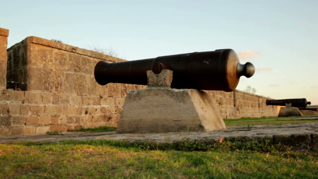 fortress wall - old cannon - 18th century style stock videos and b-roll footage