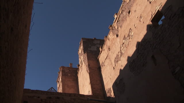 Fortress walls demonstrate the strength of Morocco's Kasbah of El Glaoiu.