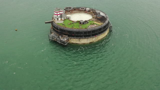 forts, off the coast of portsmouth in the solent, that are now for sale - solitude stock videos & royalty-free footage