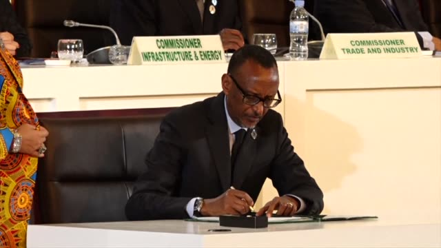 Forty four African countries sign an agreement establishing a free trade area seen as vital to the continent's economic development announces the...