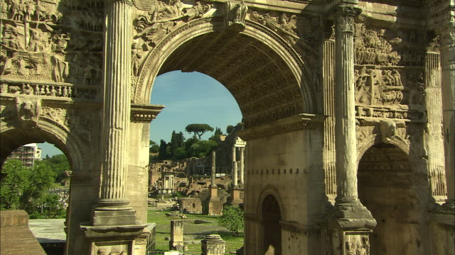 forum, rome, italy - レリーフ点の映像素材/bロール