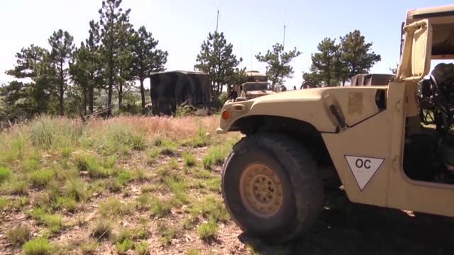 forward observers with the 1st battalion 117th field artillery regiment alabama army national guard call for fire during a training exercise as part... - military exercise stock videos and b-roll footage